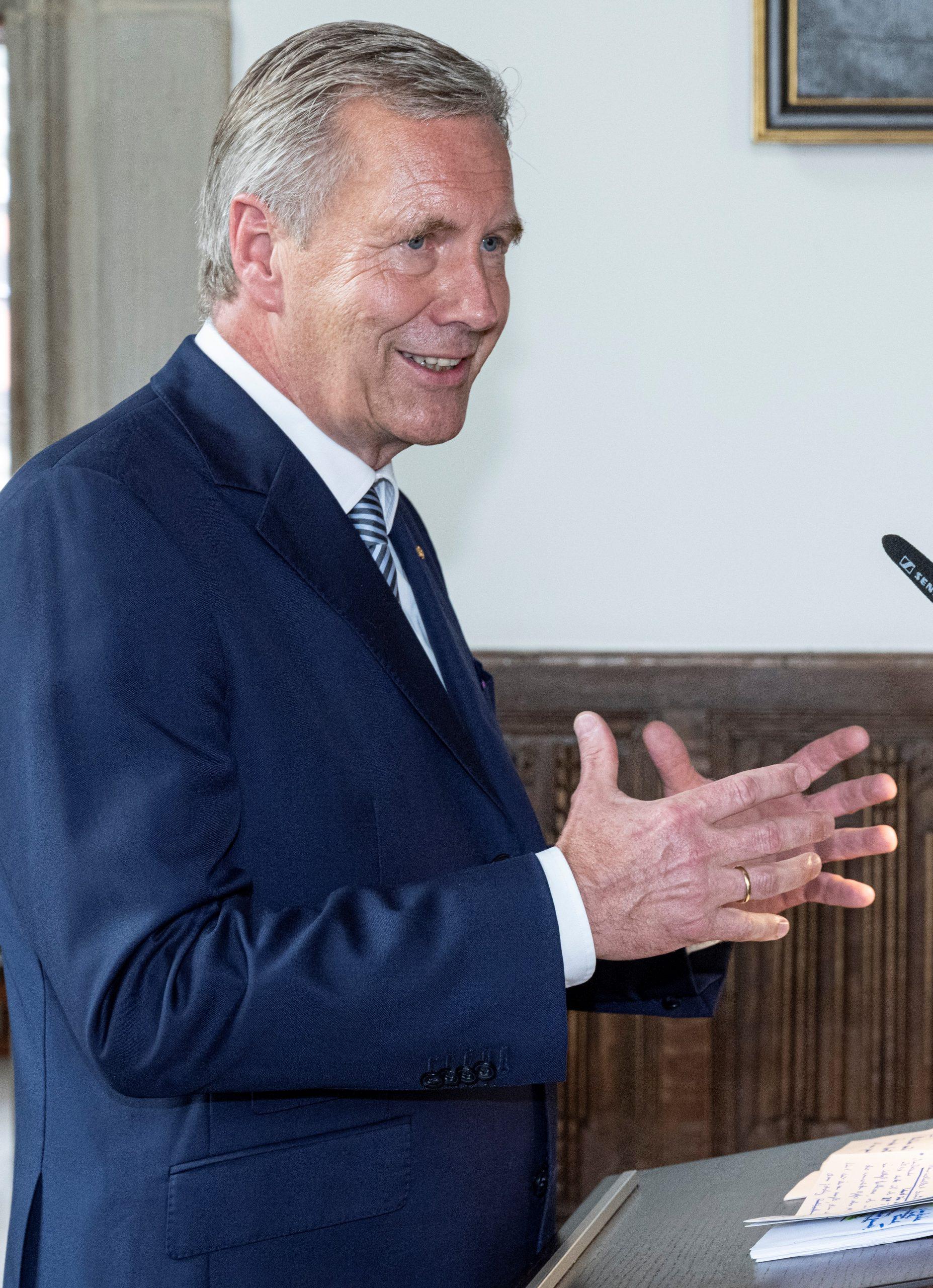 Bundespräsident a.D. Christian Wulff am Rednerpult